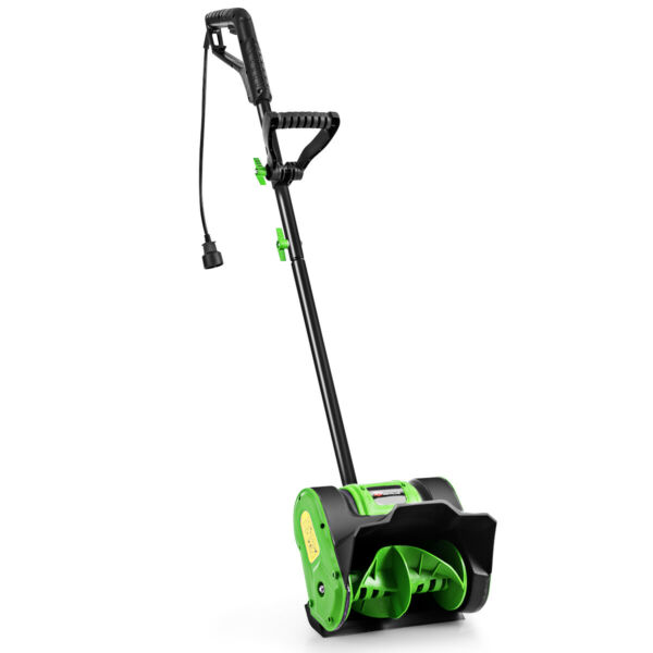12 Inch 9 Amp Electric Corded Snow Shovel Garden Yard Snow Thrower Green