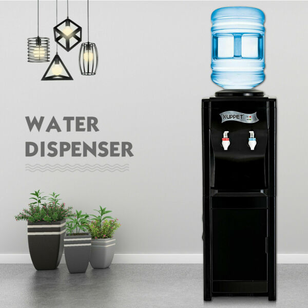 5 Gallon Electric Freestanding HotCold Water Cooler Dispenser Top Loading Black
