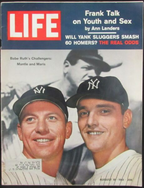 MantleMarris New York Yankees Unsigned Vintage 1961 Life Magazine 147926
