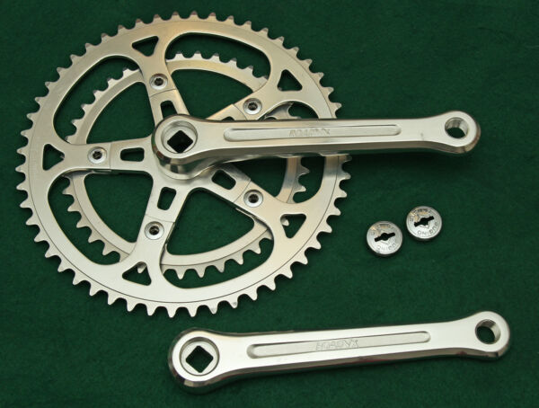 SunTour VX Crank with 52 & 39 Sugino Chainrings 170mm 1980s NOS