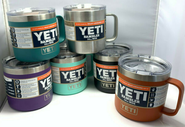 YETI Rambler 14 oz Stainless Steel Vacuum Insulated Mug with Lid *YOU PICK*
