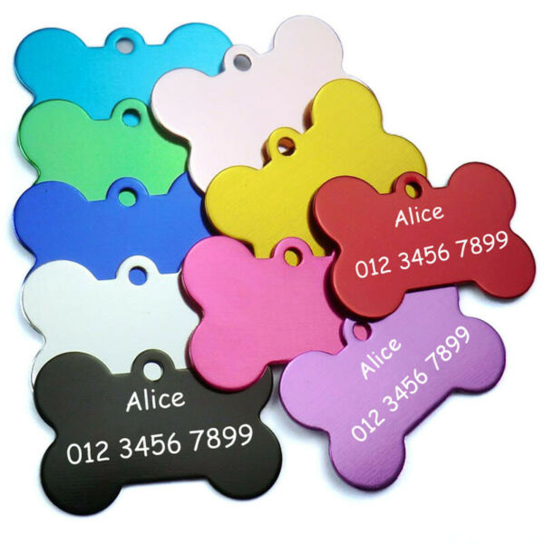 Free Engraving Dog Cat Id Tags DIY Personalized Dogs Id Tag Stainless Steel Tag $0.99