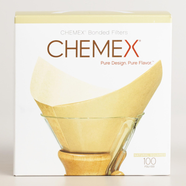 Chemex Natural Coffee Filters Square 100 Count Exclusive Packaging
