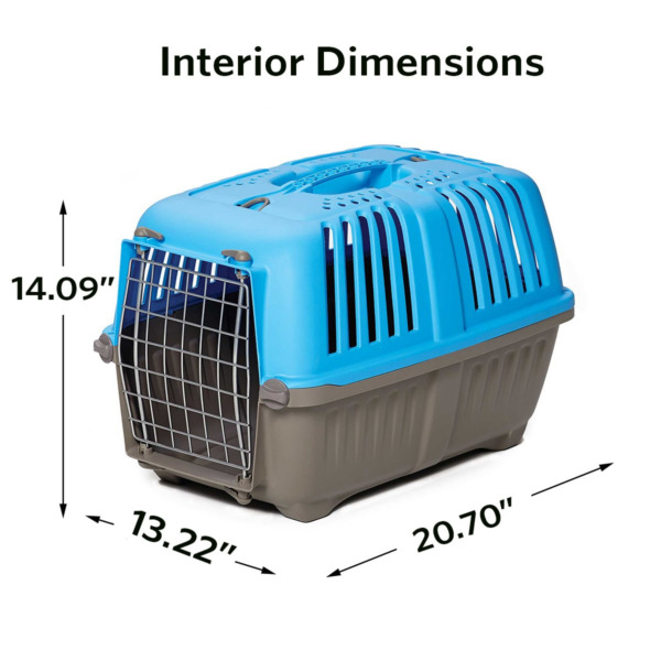 Pet Carrier: Hard Sided Dog Carrier Cat Carrier Small Animal Carrier in Blue $28.89