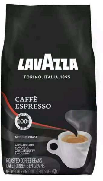 LavAzza Coffee Cafe Espresso Whole Bean 2.2 lb 1000g Medium Roast