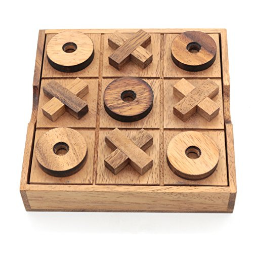 Tic Tac Toe Wood Coffee Tables Family Games Home Decor for Living Room Rustic