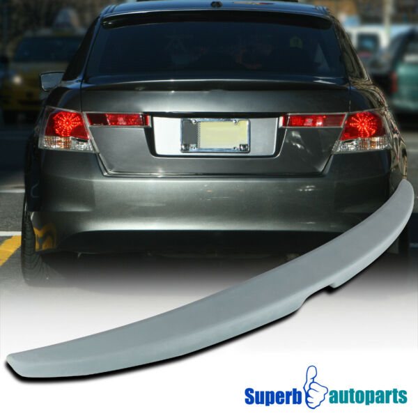 For 2008 2012 Honda Accord 4Dr Unpainted ABS Plastic Rear Trunk Spoiler Wing $57.98