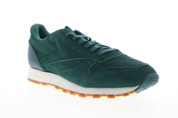 Reebok Classic Leather SG BD6014 Mens Green Suede Lace Up Low Top Sneakers Shoes