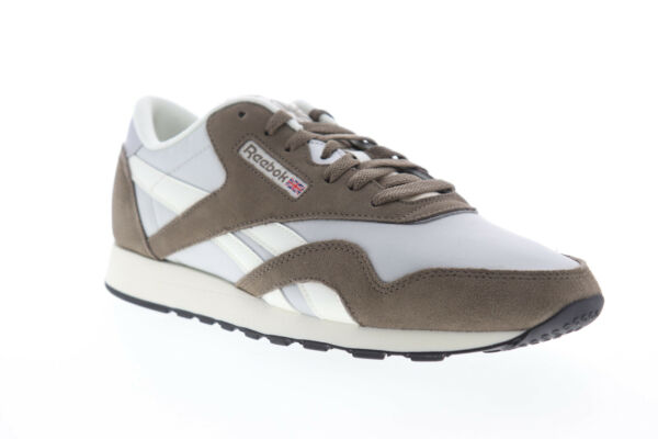 Reebok Classic Nylon DV5799 Mens Gray Lace Up Low Top Sneakers Shoes