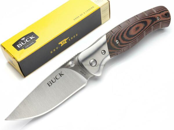 Buck 835 Small Selkirk Folding EDC Pocket Knife Micarta 420HC Linerlock 835BRS