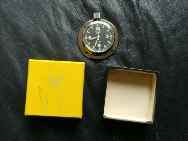 NOS HEUER NAVIA YACHT RALLY DASH CLOCK  WATCH ANTIQUE TIME SWISS 8 DAY 01226