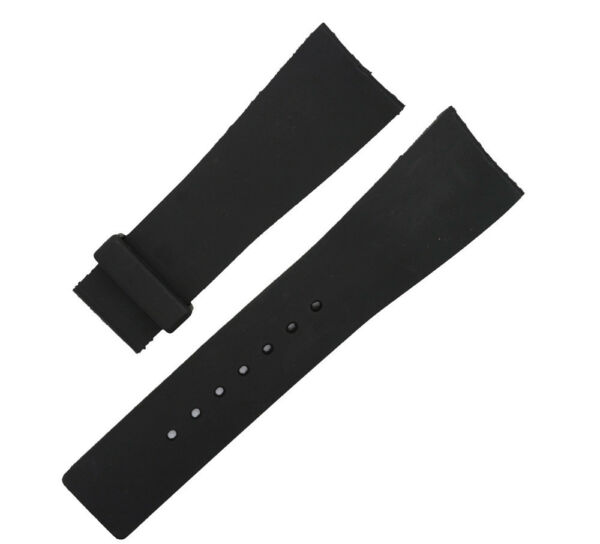 Rubber Black Deployment Watch Strap Band For (Fits) I-Gucci Digital Men's Watch