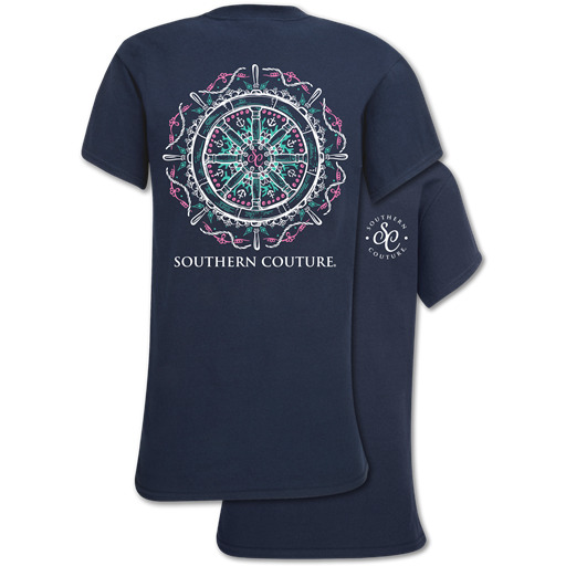 Southern Couture Classic Collection Nautical Ship Wheel T-Shirt $19.99
