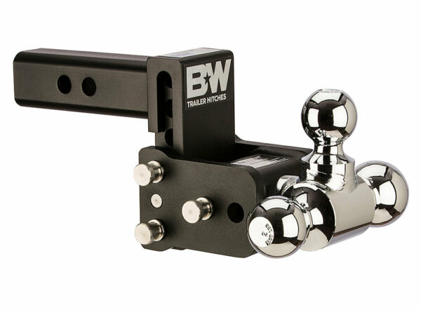 Bamp;W Tow amp; Stow Adjustable Trailer Hitch Ball Mount Black TS10047B