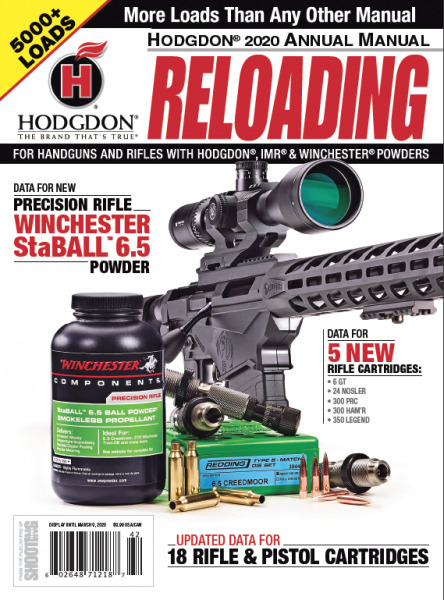 HODGDON ANNUAL RELOADING MANUAL 2020 - SOFTCOVER - NEW - FREE SHIP