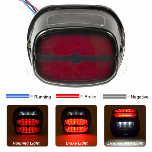 LED Rear Tail Light Brake Fit for Harley Road King Dyna Glide Softail Sportster $18.91