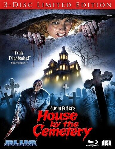 THE HOUSE BY THE CEMETERY New Blu-ray + CD 3 Disc Limited Edition Lucio Fulci