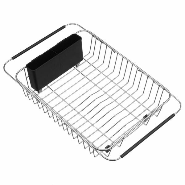 iPEGTOP Expandable Dish Drying Rack Over the Sink Dish Rack In Sink Or On Coun