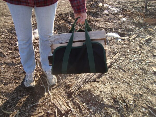 FIRE WOOD LOG CARRIER TOTE --Large 15