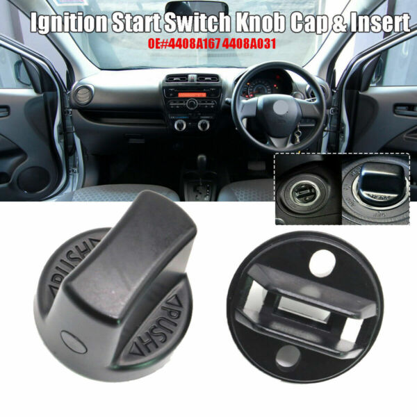 NEW Keyless Ignition Start Switch Knob Cap &Insert For Lancer Outlander 4408A167