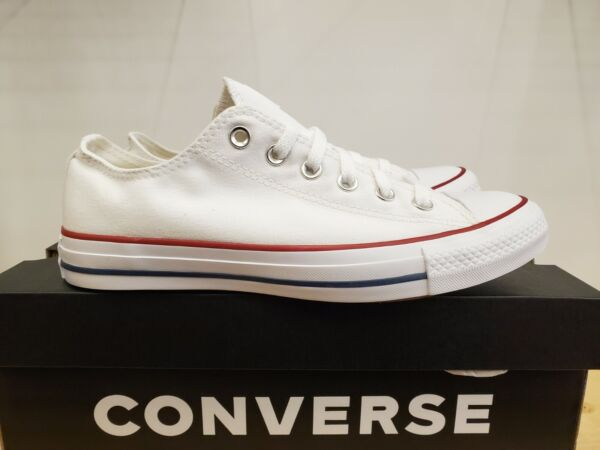 NEW IN THE BOX CONVERSE CHUCK TAYLOR ALL STAR LOW TOP OPTICAL WHITE SHOES WOMEN