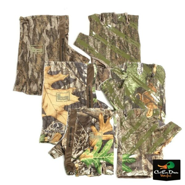 NEW BANDED FINGERLESS TURKEY HUNTING CAMO GLOVES B1070001