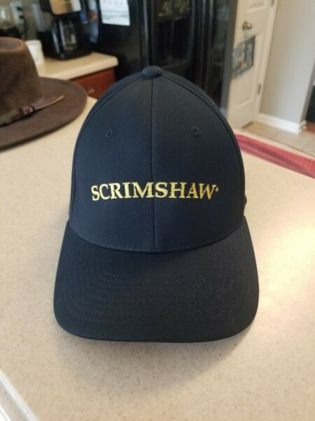 Scrimshaw' North Coast Brewing Co. Fort Bragg CA Flexfit Fitted Hat S-M EUC