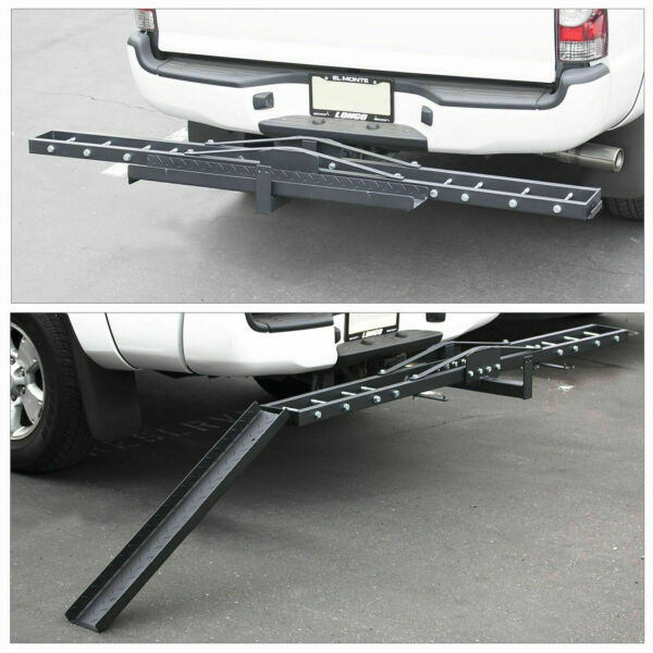 Motorcycle Scooter Dirt Bike Carrier Hauler Hitch Mount Bike Rack Ramp Anti Tilt $104.95