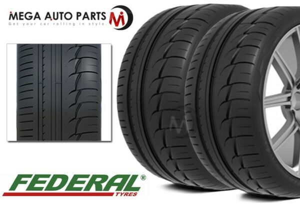 2 New Federal Evoluzion F60 285 35R19 103Y XL UHP Ultra High Performance Tires