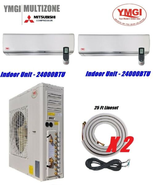 YMGI 48000 Btu Two Zone Ductless Mini Split Air Conditioner with Heat pump 4 Ton $3799.00