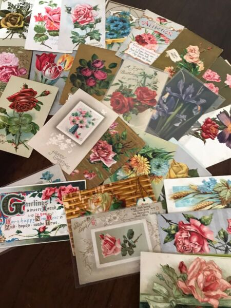 Lot of 30 Vintage Early 1900's Postcards Antique In Sleeves Free Shipping