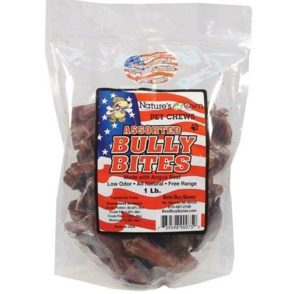 Best Buy Bones USA Made Bully Bites Healthy Pet Chews for Dogs 1 lb. $24.01