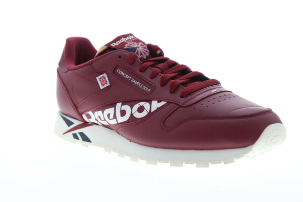 Reebok Classic Leather MU DV5018 Mens Red Lace Up Low Top Sneakers Shoes