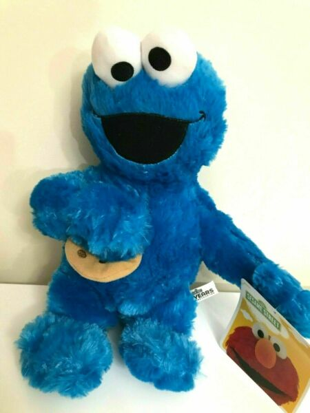 New Sesame Street Cookie Monster Large 14quot; . Plush Blue Soft Toy. Licensed $13.99