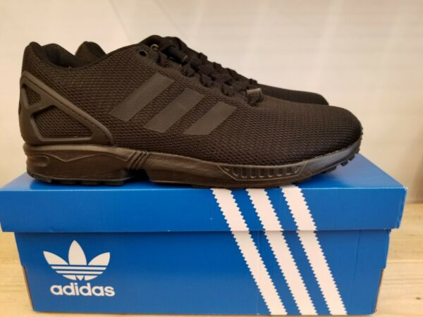 NEW IN THE BOX ADIDAS ZX FLUX BLACK S32279 SHOES FOR MEN