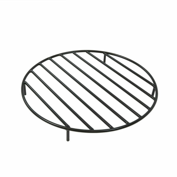 Sunnydaze Round Black Steel Outdoor Camping Fire Pit Firewood Grate - 24-Inch