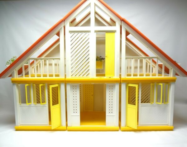 Barbie and Kens Mid Century Modern Dream Home - Contemporary Doll House - Dolls