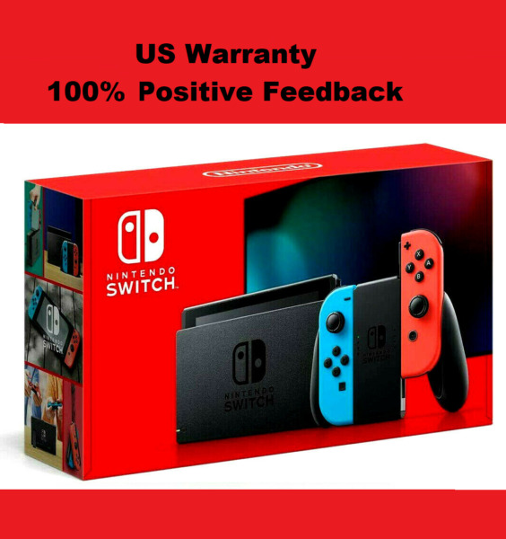 Brand New 2020 Nintendo Switch 32GB Game Console with Two Neon Blue Red Joy Con