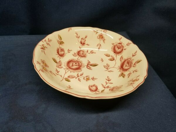 Vintage Nikko Tablemates quot;Rose Gardenquot; Round Serving Bowl Retired BEAUTIFUL