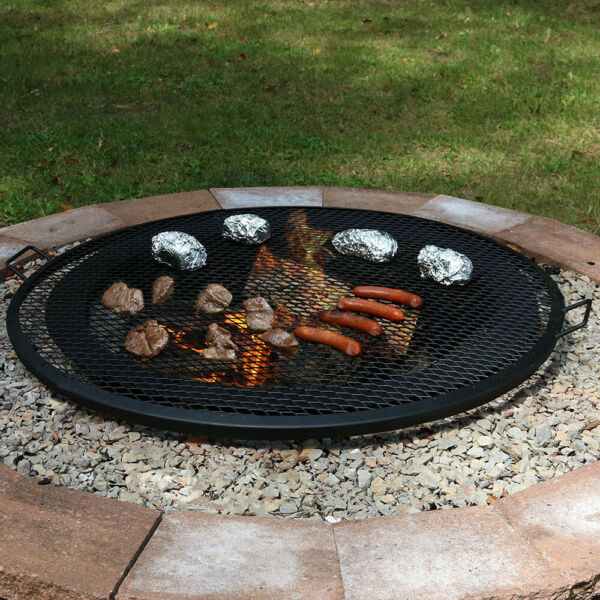 Sunnydaze Cooking Grate X Marks Outdoor Fire Pit Grill Accessory 40quot; Diameter