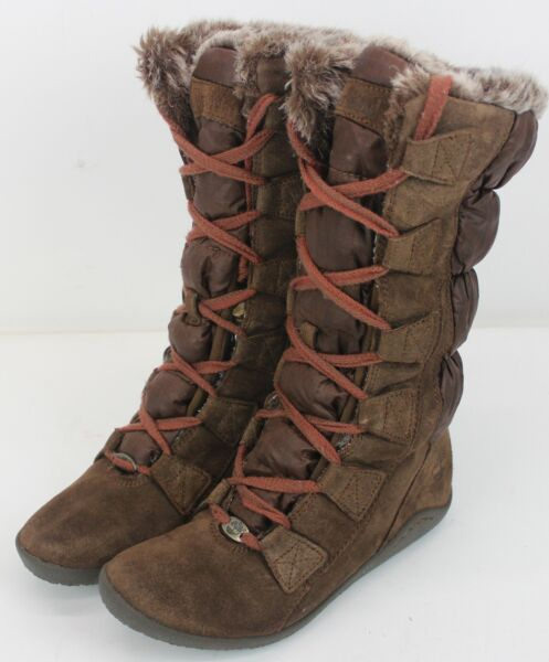Women#x27;s Timberland Winter Boots Brown Leather Size 6.5 $51.00