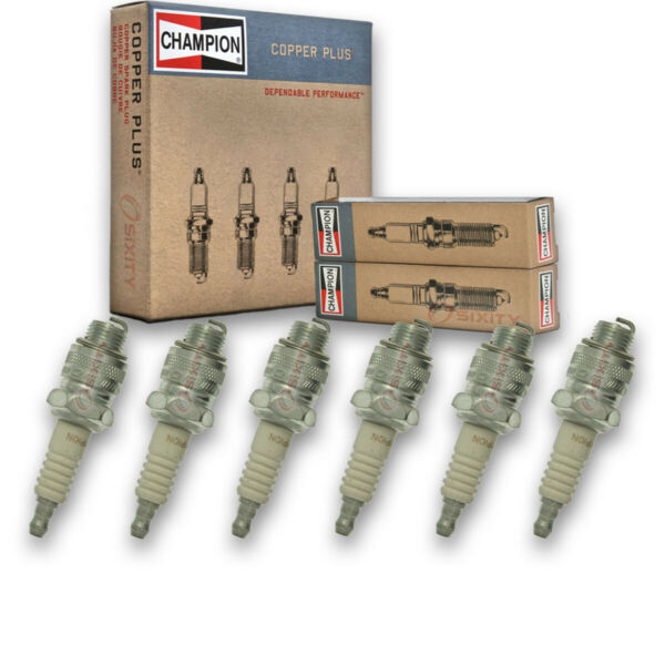 6 pc Champion Copper Spark Plugs for 1941 Graham Custom Hollywood Model 113 fd