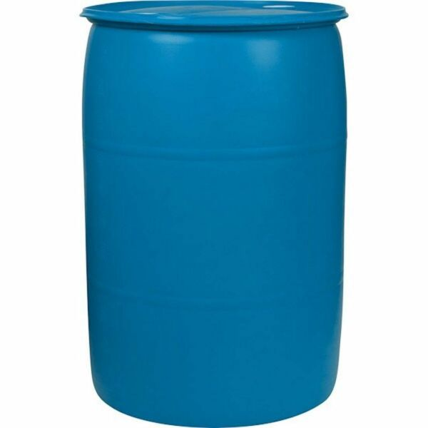 30 Gallon Plastic Drum Reconditioned Free Shipping Blue $68.88