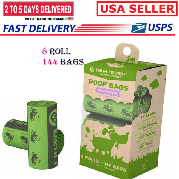 8 Rolls 144Bags Dog Poop Bag Puppy Scented Poop Wastage Scooper Disposable Bags $16.99