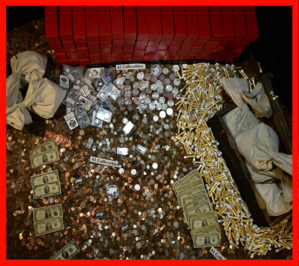 ESTATE LOT SALE OLD RARE US CURRENCY SILVER COINS GOLD BULLION MONEY GEMS HOARD