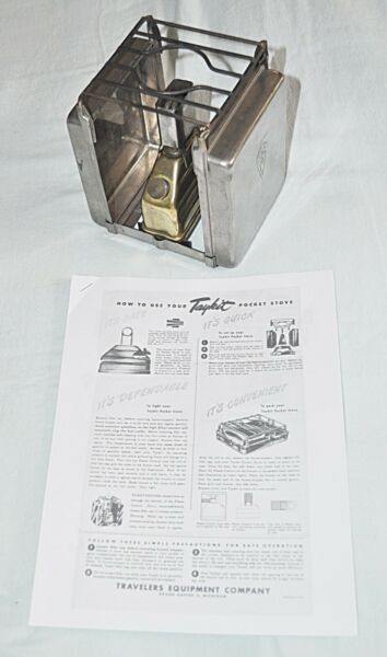 Vintage Taykit Camping stove Self-contained Mostly complete good shape AS IS