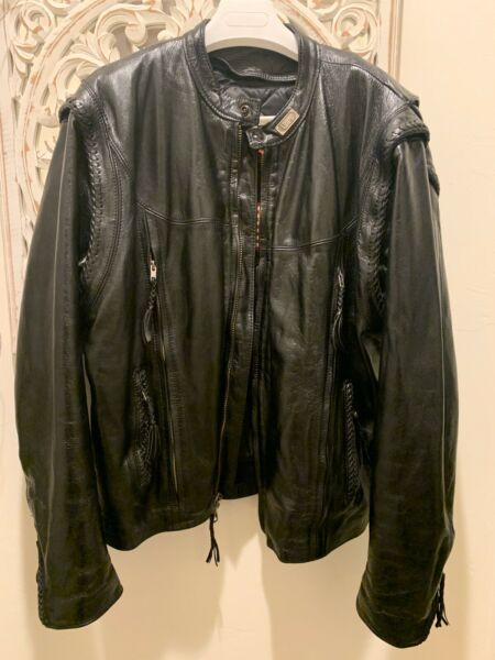 HARLEY DAVIDSON WILLIE G CONVERTIBLE LEATHER JACKETVEST Size XXL USA MADE!