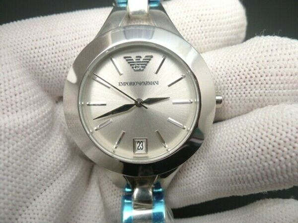 New Old Stock EMPORIO ARMANI AR7401 Stainless Steel Quartz Women Watch