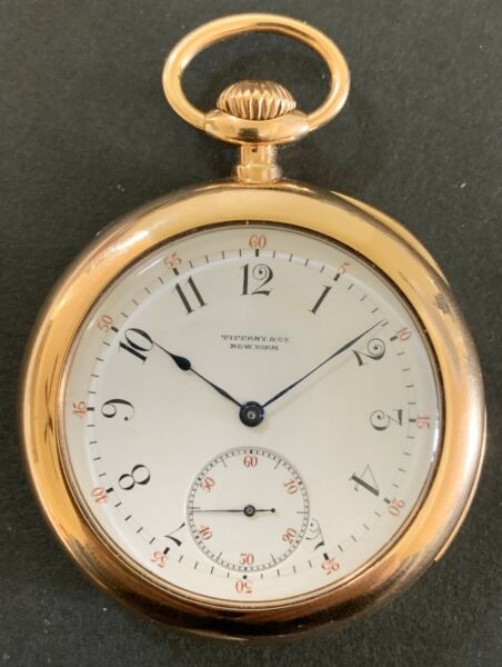 Original 18k Tiffany &Co. 5-Minute Repeater Pocket Watch By Patek PhilippeRare.