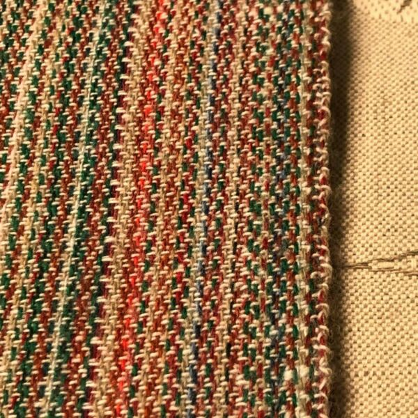 37quot;Lx60quot;W multi color woven striped effect wool like fabric fibers unknown